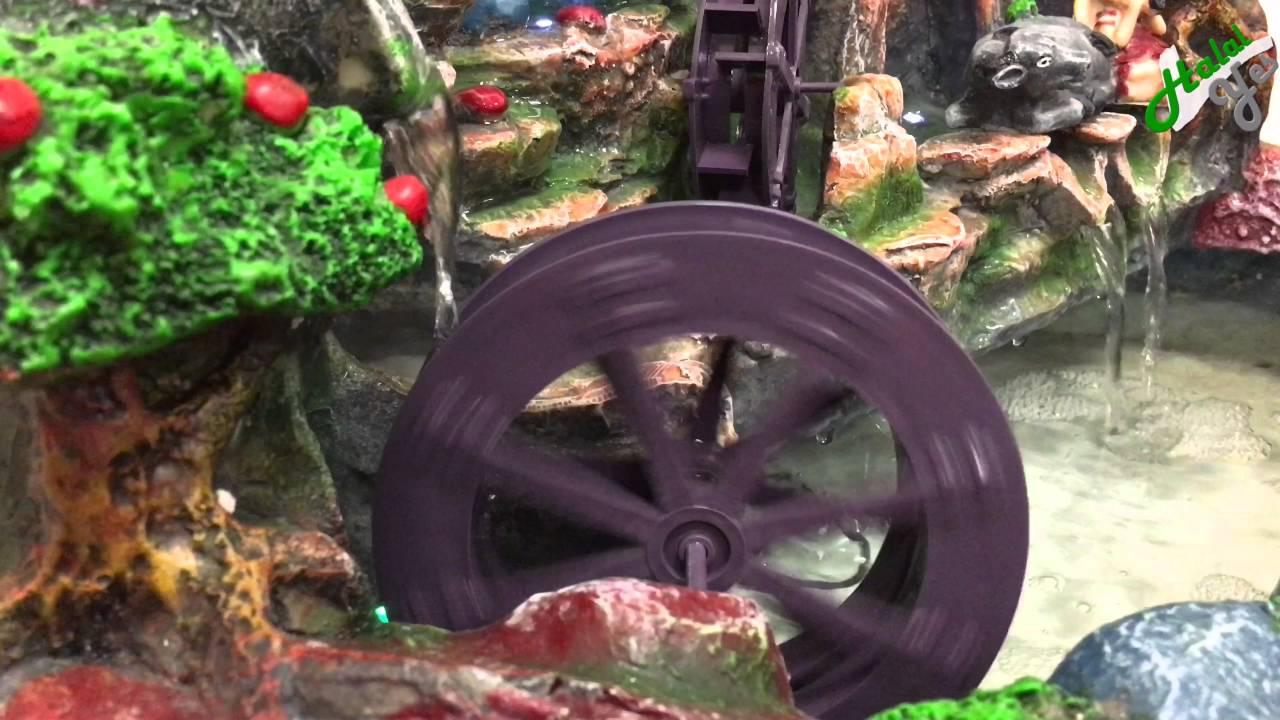 amazing miniature waterfall with water wheel youtube