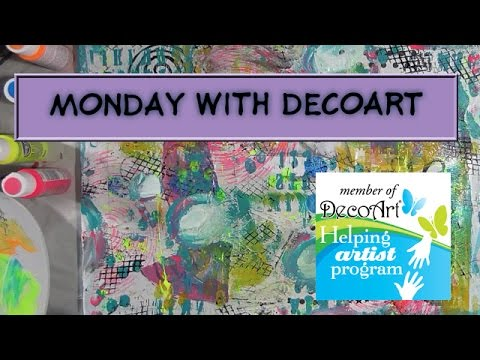 Monday With Decoart - 5 Steps To A Fabulous Canvas - Step 1