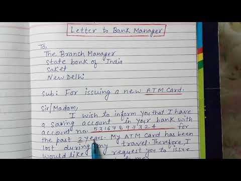 Application Letter To Bank