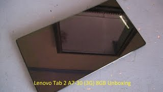 lenovo tab 2 a7 30 3g unboxing