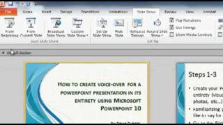 How to create voice-over narration for your PowerPoint Presentation