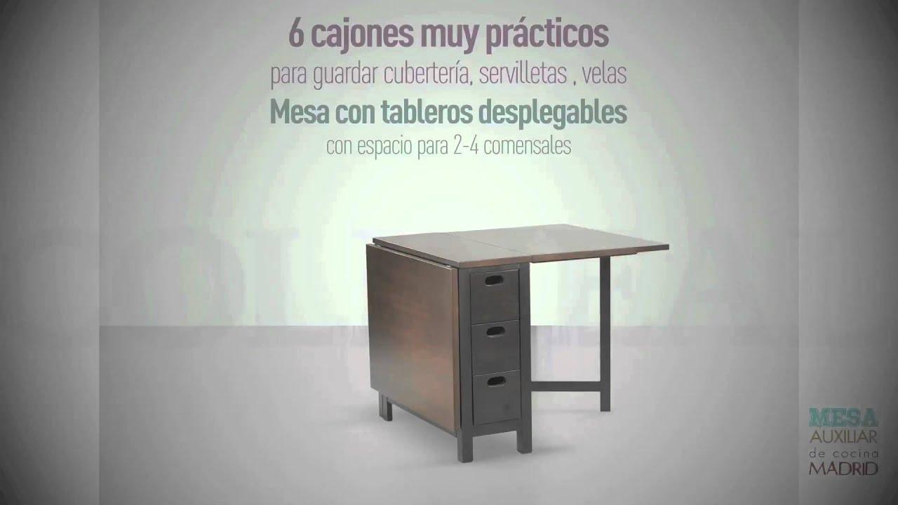 Mesa auxiliar Madrid - YouTube