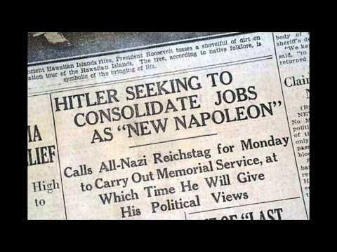 2nd August 1934: Hitler becomes Führer following Hindenburg's death