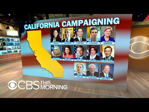 Democrat presidential candidates arrive in California for state convention