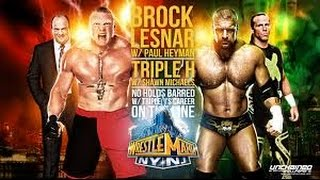 Triple H vs Brock Lesnar Wrestlemania 29 Highlights