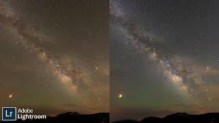 Astrophotography Lightroom Milky Way Color Correction Tutorial