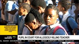 Pupil in court for allegedly killing teacher