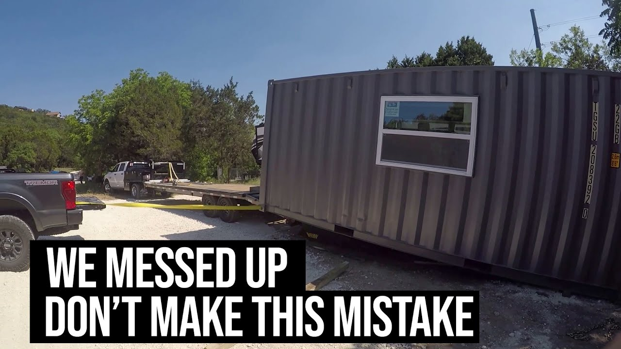 Never Build Your Shipping Container Home on a Trailer | Building a SHIPPING CONTAINER HOME