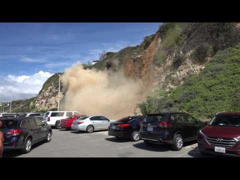 Point Dume California USA Landslide - 2017-03-25 - Slow motion