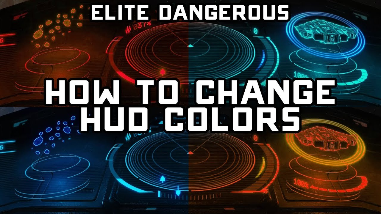 How to Change Elite Dangerous Horizons HUD Colors - Fast & Easy Tutorial
