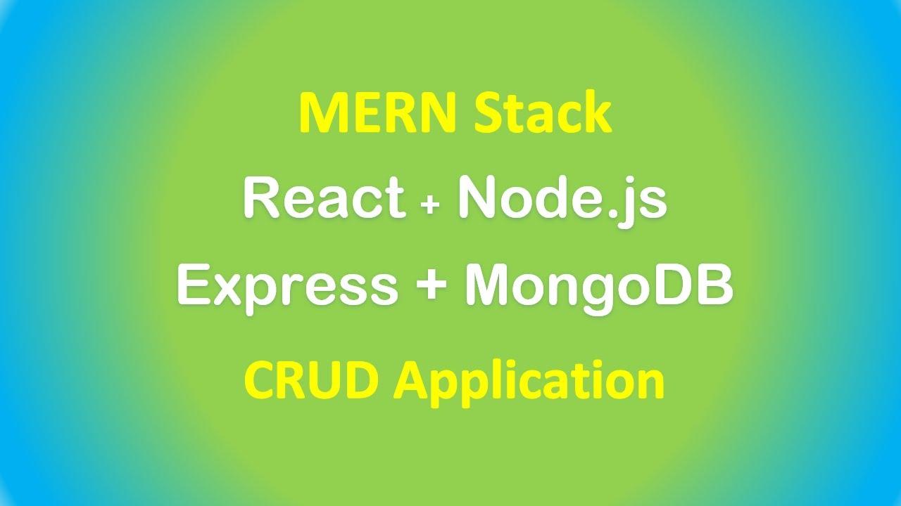 React.js + Node.js Express + MongoDB example: MERN stack CRUD App