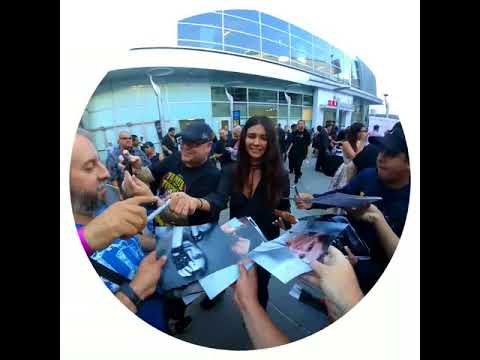 Tamara Feldman of Hatchet Signing Autographs For  in Hollywood