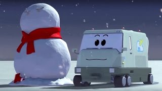 The Airport Diary - Episode 60 - Fluffy snow - Animation for kids about planes