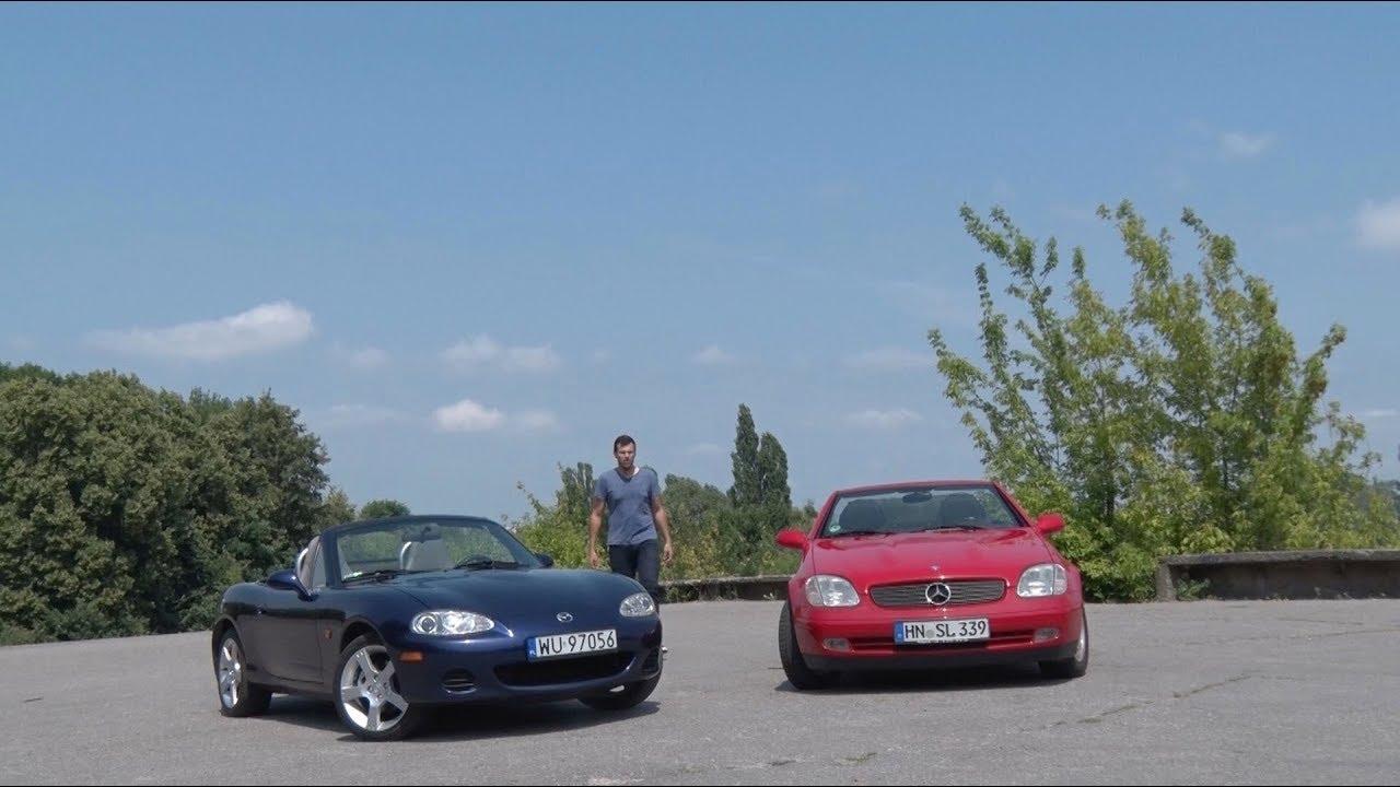 Mercedes SLK kontra Mazda MX-5 – stworzone by dawać radość z jazdy