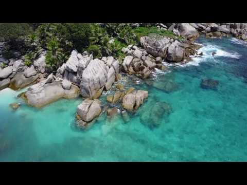 Copy of SEYCHELLES - LA DIGUE - GRAND SEUR - FELICITE - COCO ISLAND - 4K drone view