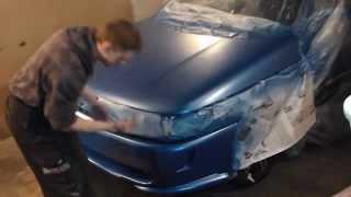 Подготовка и покраска бампера и капота ВАЗ 2110 № 29(Клею эбоксидкой бампер,шпаклюю, грунтую и крашу.Также крашу капот и передний бампер., 2014-04-25T08:06:55.000Z)