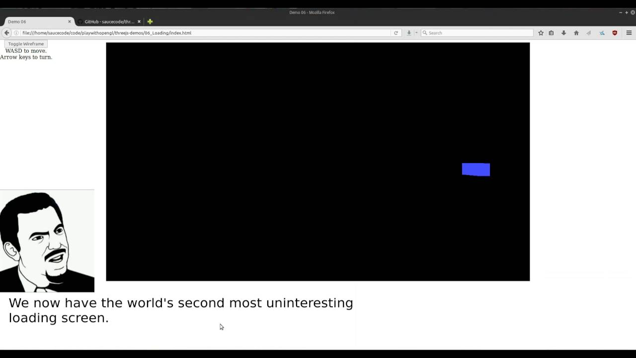 Repeat Learning three js 06 :: Adding a Loading Screen by xSaucecode
