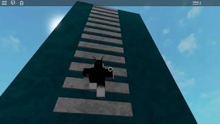 Skiing up a 200 stud ladder on ROBLOX