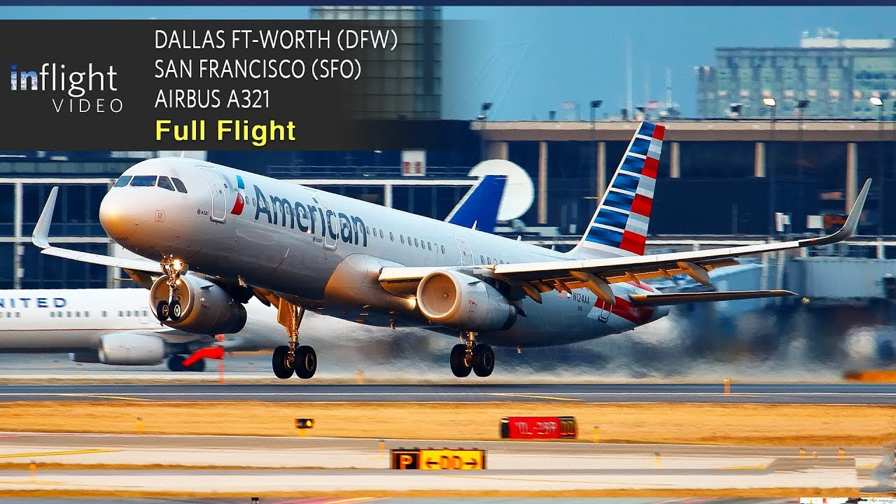 American Airlines Full Flight Dallas Ft Worth To San