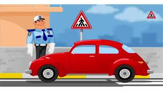 trafik isaretleri ve levhalari cizgi filmi