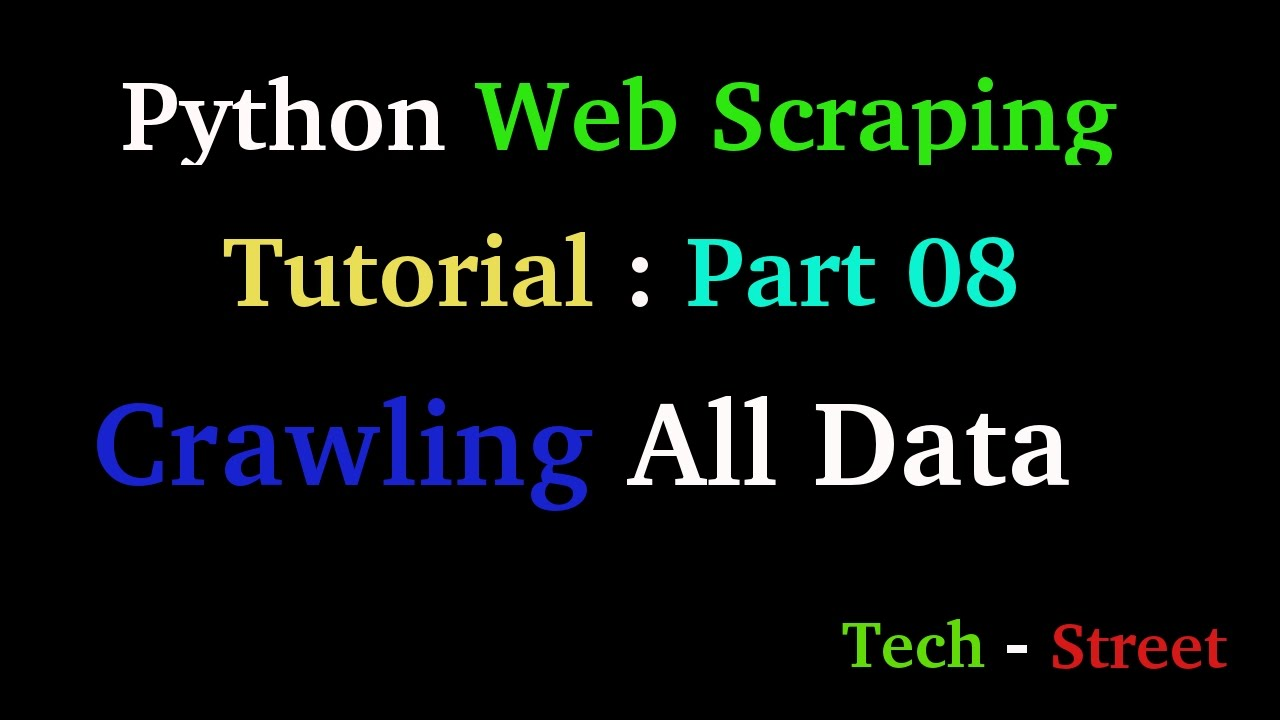 Python Web scraping tutorial : Part 08 - Collecting Data from ...