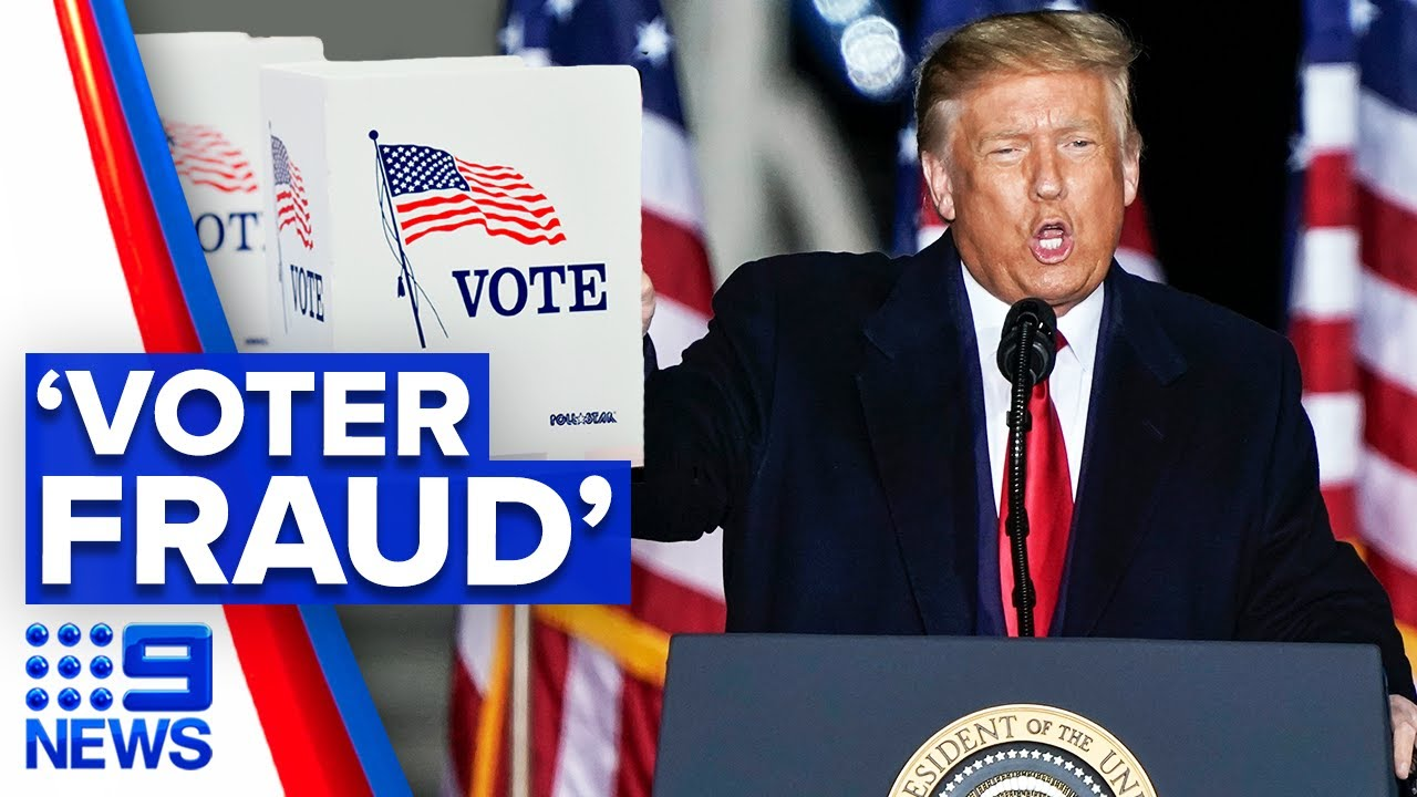 Trump releases 46-minute video on election fraud | 9 News Australia
