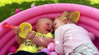 Lovely Siblings Baby Playing Together 👧👶🧒 Siblings Baby Video