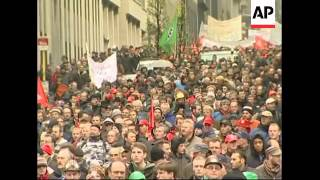 European steel workers protest EU emissions cuts