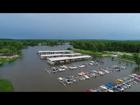 NP Dodge Park and Marina Flooding 2018 Drone