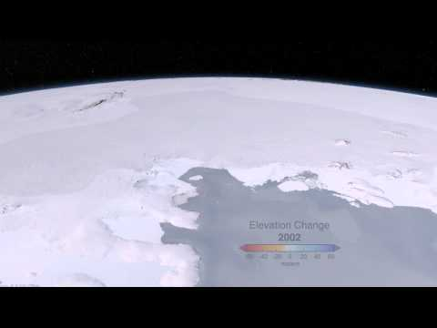 West Antarctic Glacier Ice Flows and Elevation Change [720p]
