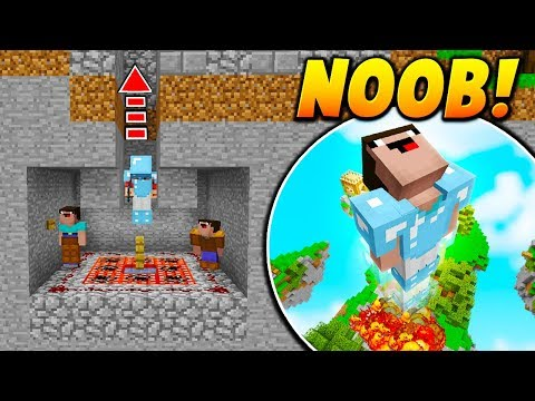 NOOB CANNON PLAYER TROLL! - Minecraft SKYWARS TROLLING (NOOB LAUNCHER!)