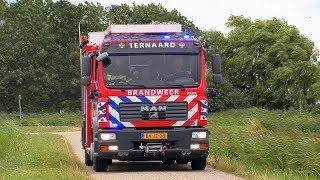 Uitruk brandweer Ternaard, TS 02-4234 met spoed naar buitenbrand Nesserwei Ternaard