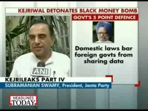 Pranab Mukherjee was money launderer for Sonia Gandhi   Dr Subramanian Swamy