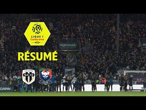 Angers SCO - SM Caen ( 3-0 ) - Résumé - (SCO - SMC) / 2017-18