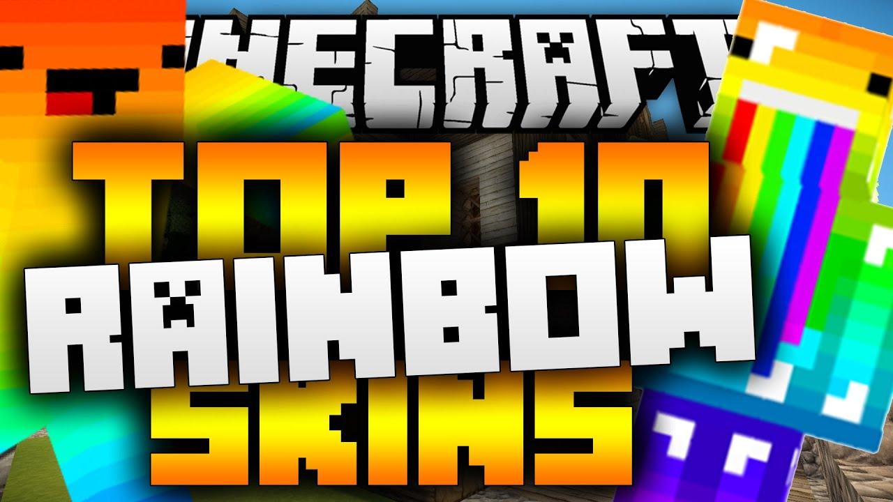 Top 10 Minecraft RAINBOW Skins 1.12 (Best Minecraft Skins ...