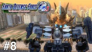 Earth Defense Force 4.1: The Shadow of New Despair (Walkthrough/Gameplay) - Part 8 (Kaiju vs Mech)
