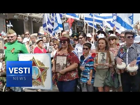 """Russian Immigrants To Israel Hold Immortal Regiment Marches To Combat """"Brown Plague!"""""""