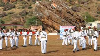 Sainik School Bijapur, Maratha Light Infantry Band at Badami  11