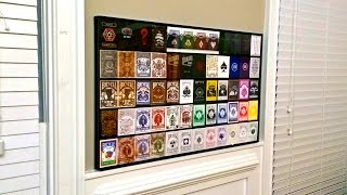 Filling The Acrylic 60 Deck Playing Card Display Case