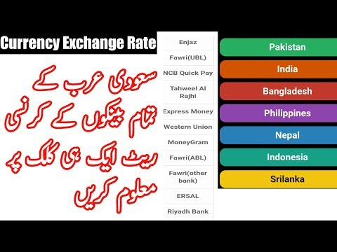 Currency Exchange Rate Of All Saudi Bank's