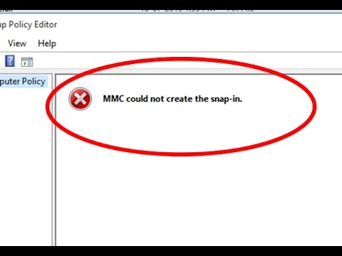 How to fix MMC could not create the snap-in windows 10/8/7