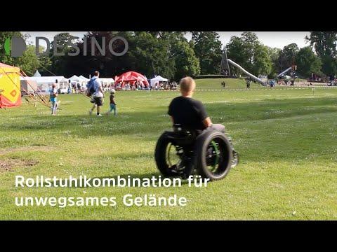 Rollstuhl fahren im Gelände - FatWheels + Vorspannrad + Elektroantrieb = Freiheit Offroad (2019)