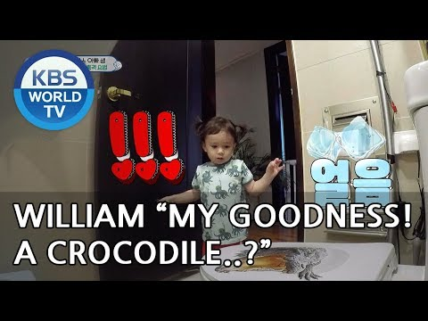 "William ""My goodness..Dad! There's a crocodile!!""[The Return of Superman/2018.10.28]"