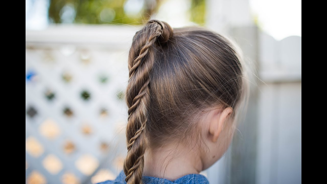 would you wear this hairstyle? | twist wrap ponytail | cute girls hairstyles
