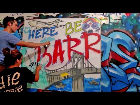 NYC's COOLEST Graffiti School ?- Learn How to Spraypaint !