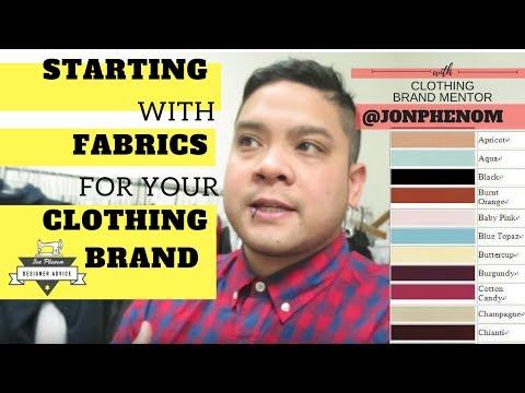 STARTING WITH FABRICS FOR YOUR CLOTHING BRAND | W/ DESIGNER @JONPHENOM
