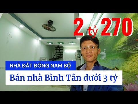 Chính chủ Bán nhà quận Bình Tân dưới 3 tỷ. Nhà 2 lầu, hẻm 4m đường số 18B Bình Hưng Hòa A
