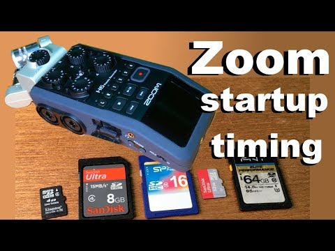 Comparing Zoom H6 startup time based on SD card size