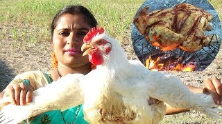 Roasted Whole Chicken Recipe in My Village | Barbecue Chicken Recipe Indian Style | Sea Foods