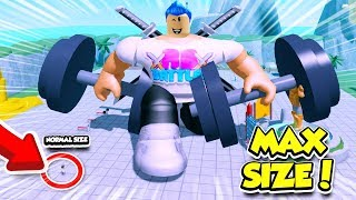 I Became THE BIGGEST PLAYER In WEIGHT LIFTING SIMULATOR 4!! *MAX SIZE* (Roblox)